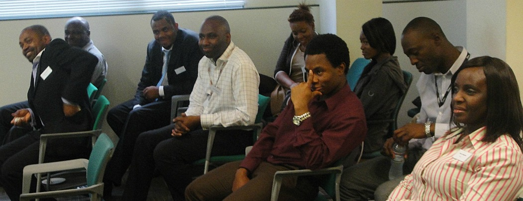A cross section of audience at communication seminar